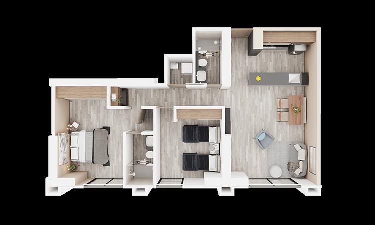 Apartamento tipo h