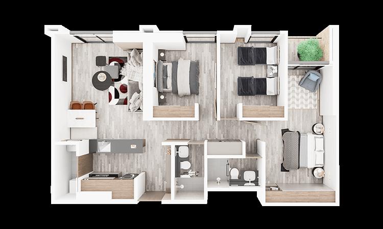 Apartamento tipo f